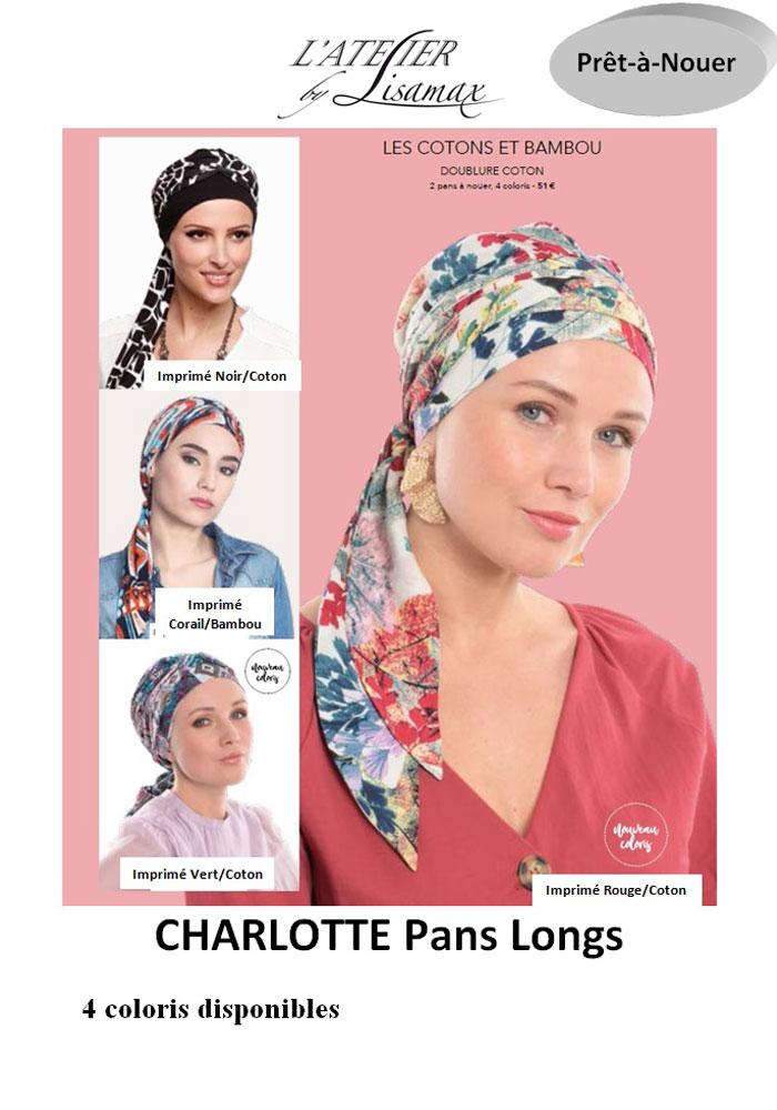"""Bonnet """"Charlotte Pans Lons"""" (coton & bambou)"""