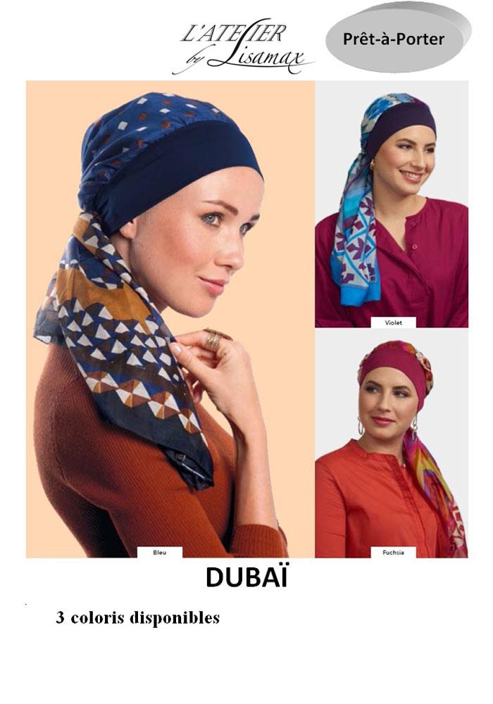 """Turban """"Dubaï"""" (autres coloris)"""