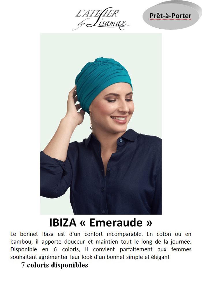 """Bonnet """"Ibiza"""" (émeraude)"""