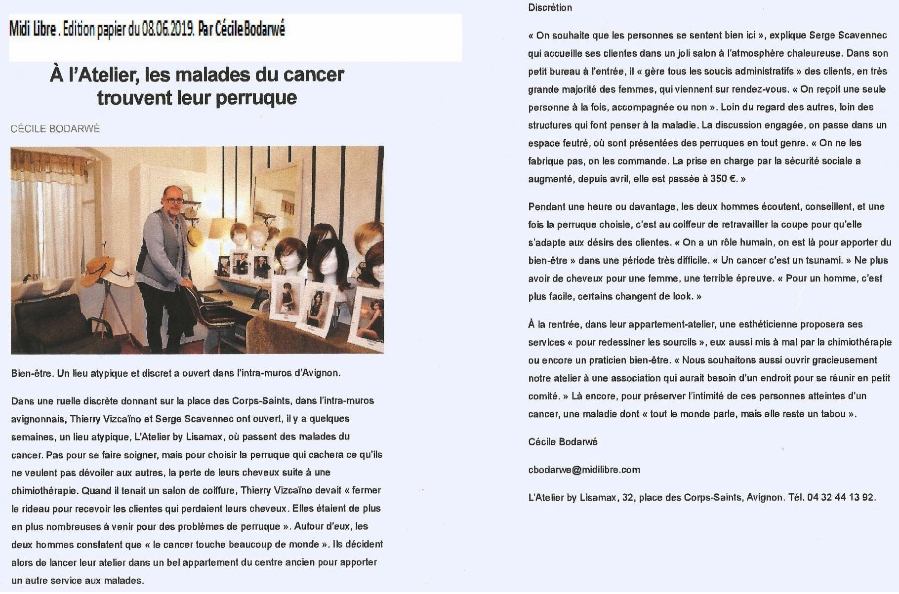 Article - Le Midi Libre (papier)